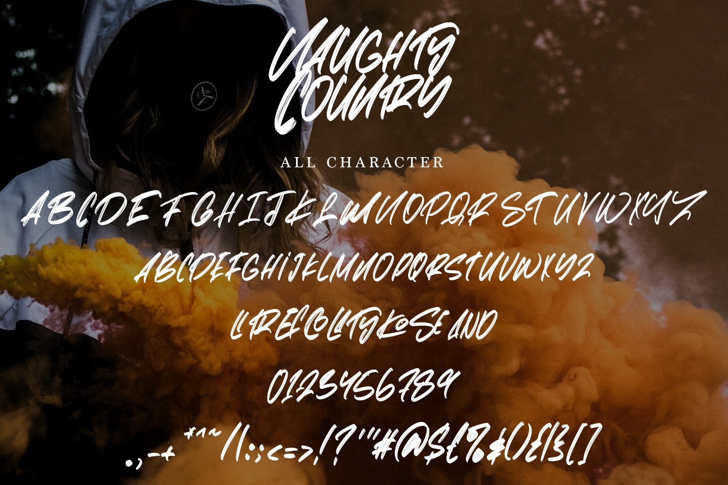 Naughty Country - Hand Lettered Brush Font example image 5