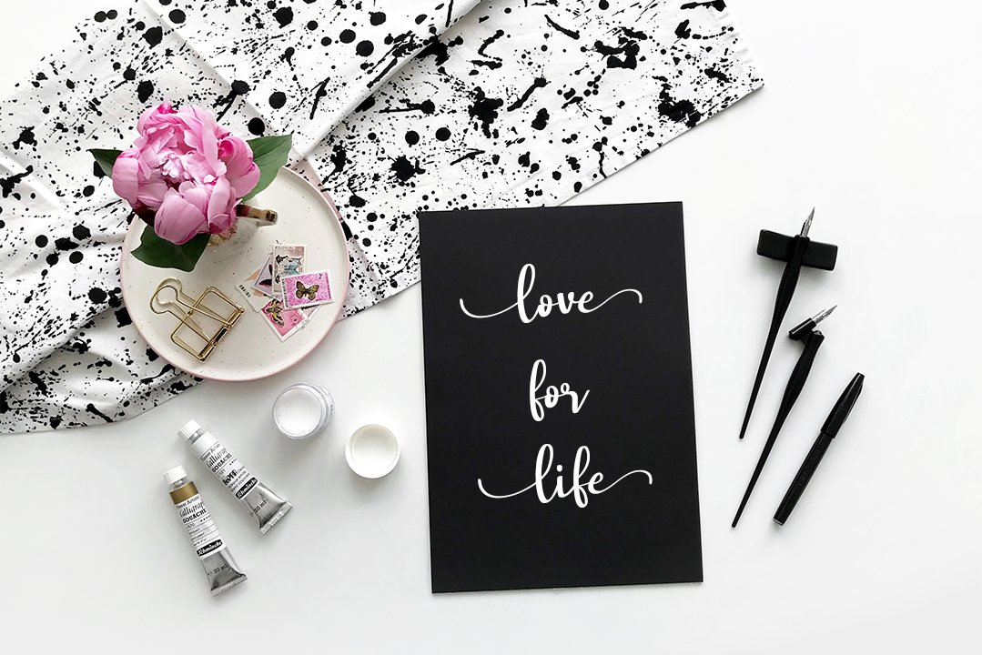 lovely tongue - Modern Calligraphy example image 4