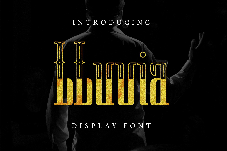 LLuvia Font example image 1