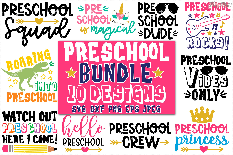 Preschool Bundle Of 10 Designs Svg Dxf Png Cricut Cut Files 295808 Cut Files Design Bundles
