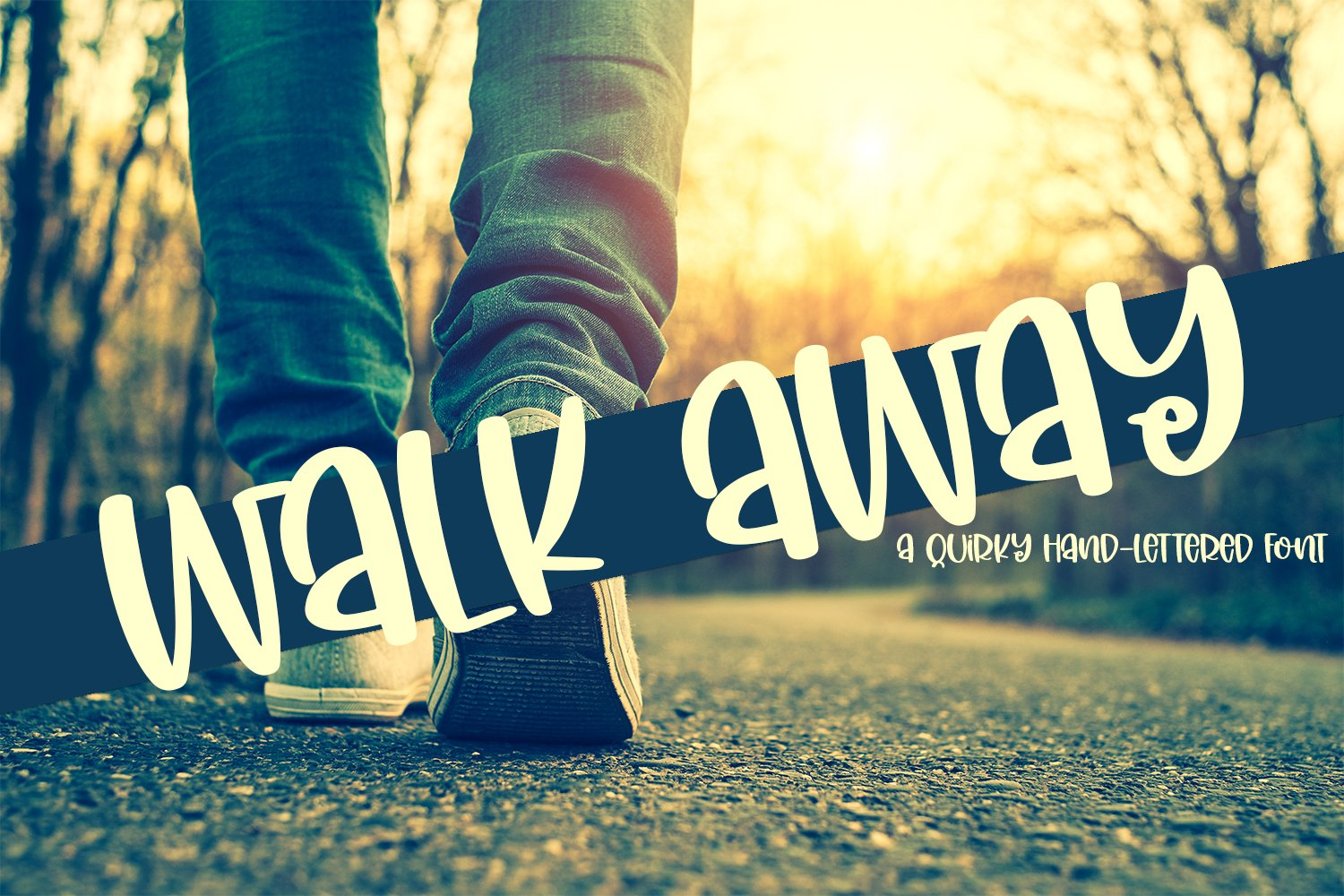 Walk Away - A Quirky Hand-Lettered Font example image 1