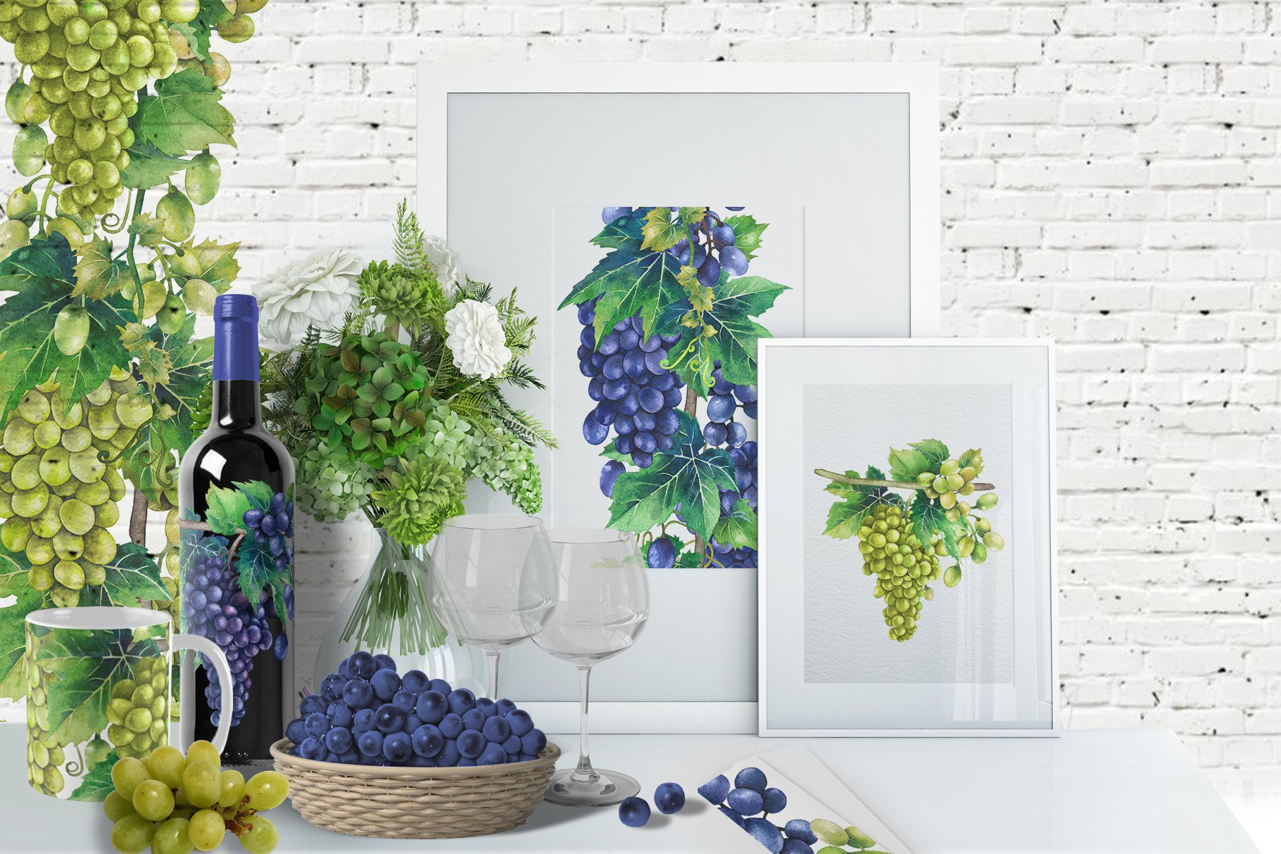 Watercolor Grapes example image 3