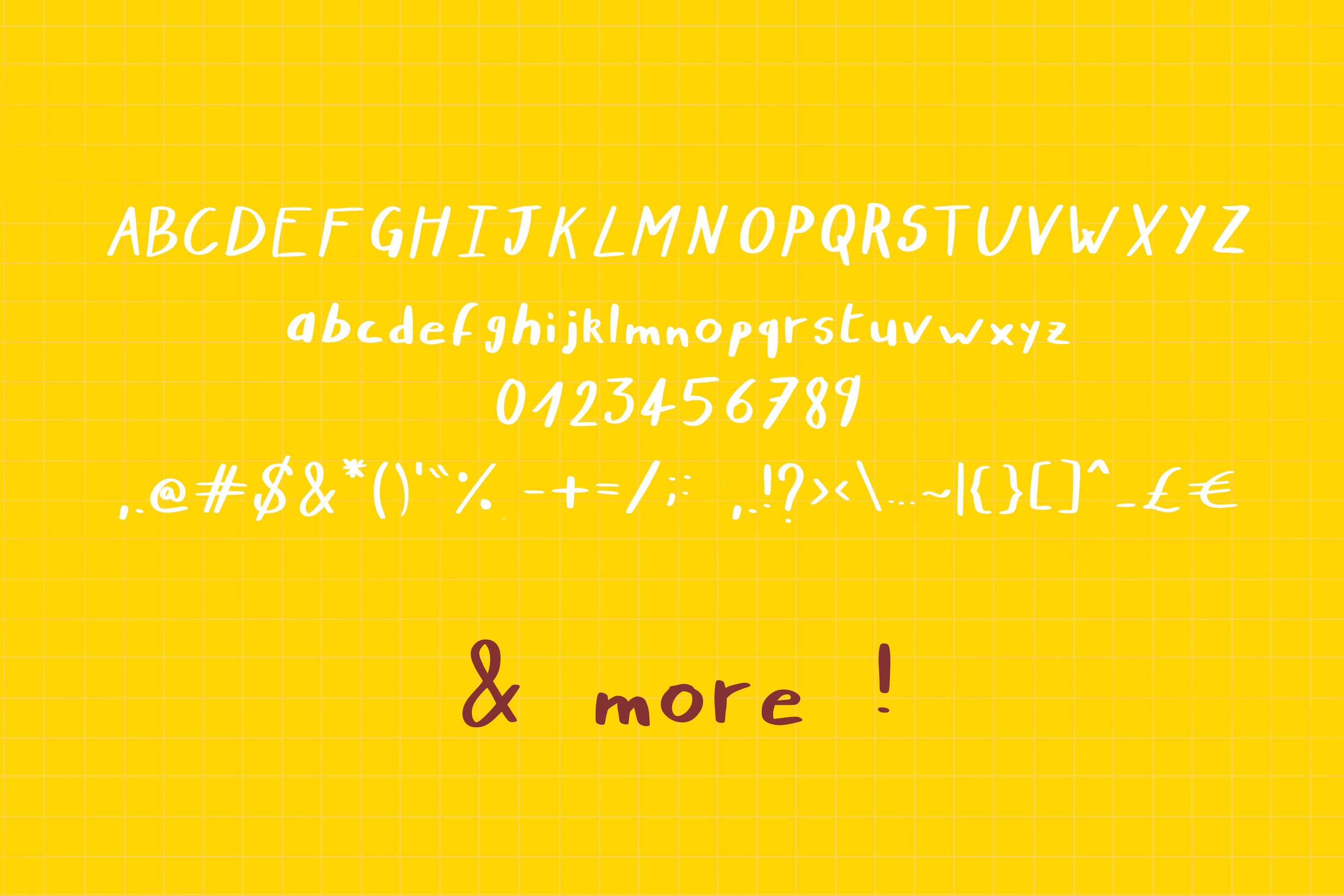 Nymera - A nice and bold handwritten script font ! example image 3