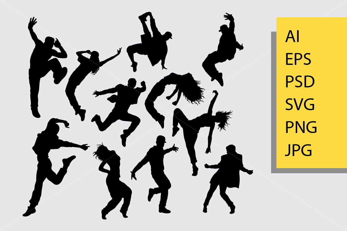 Hiphop Dance Silhouette 504977 Illustrations Design Bundles
