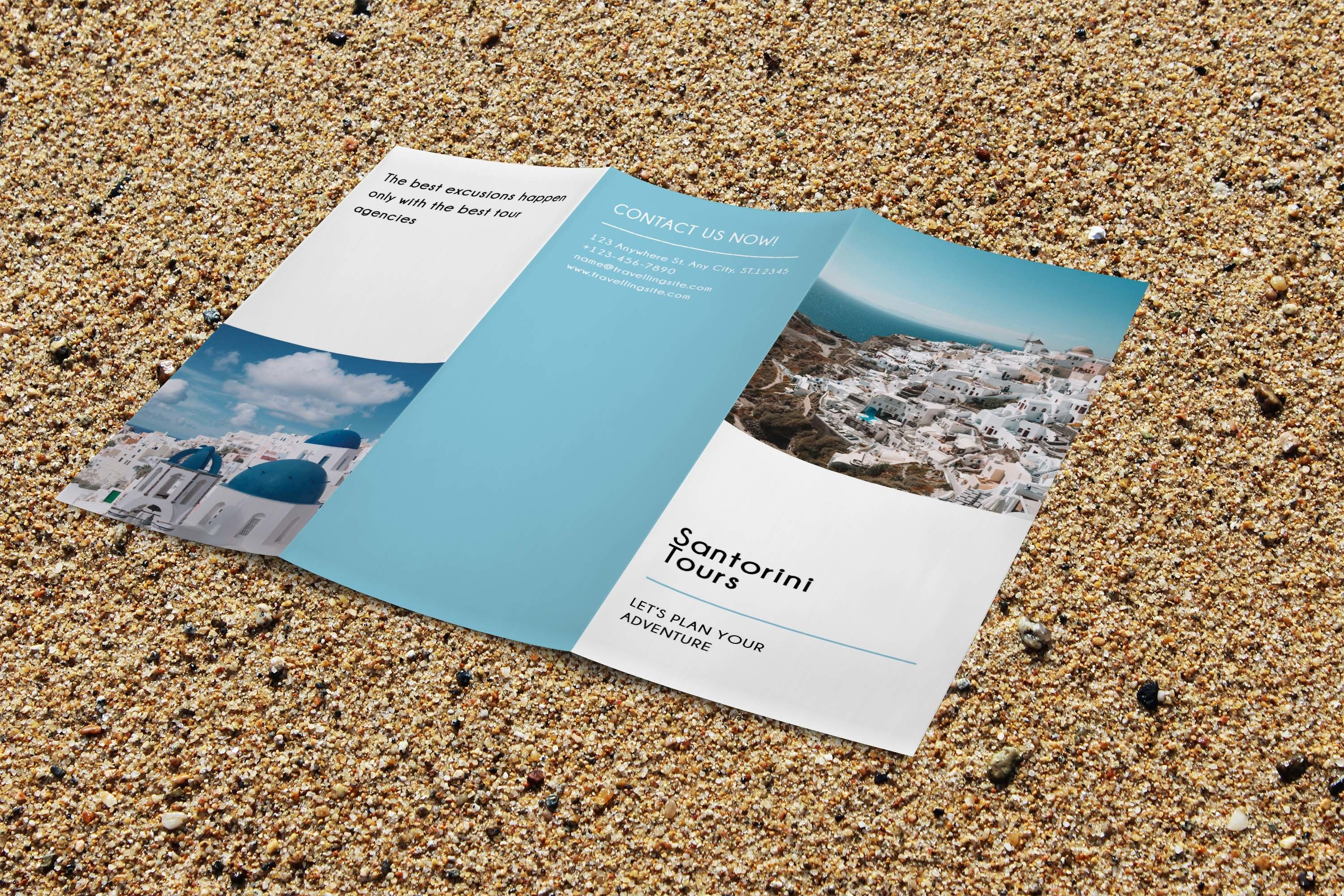 Trifold Agency Travel Brochure Editable PSD Templates example image 6