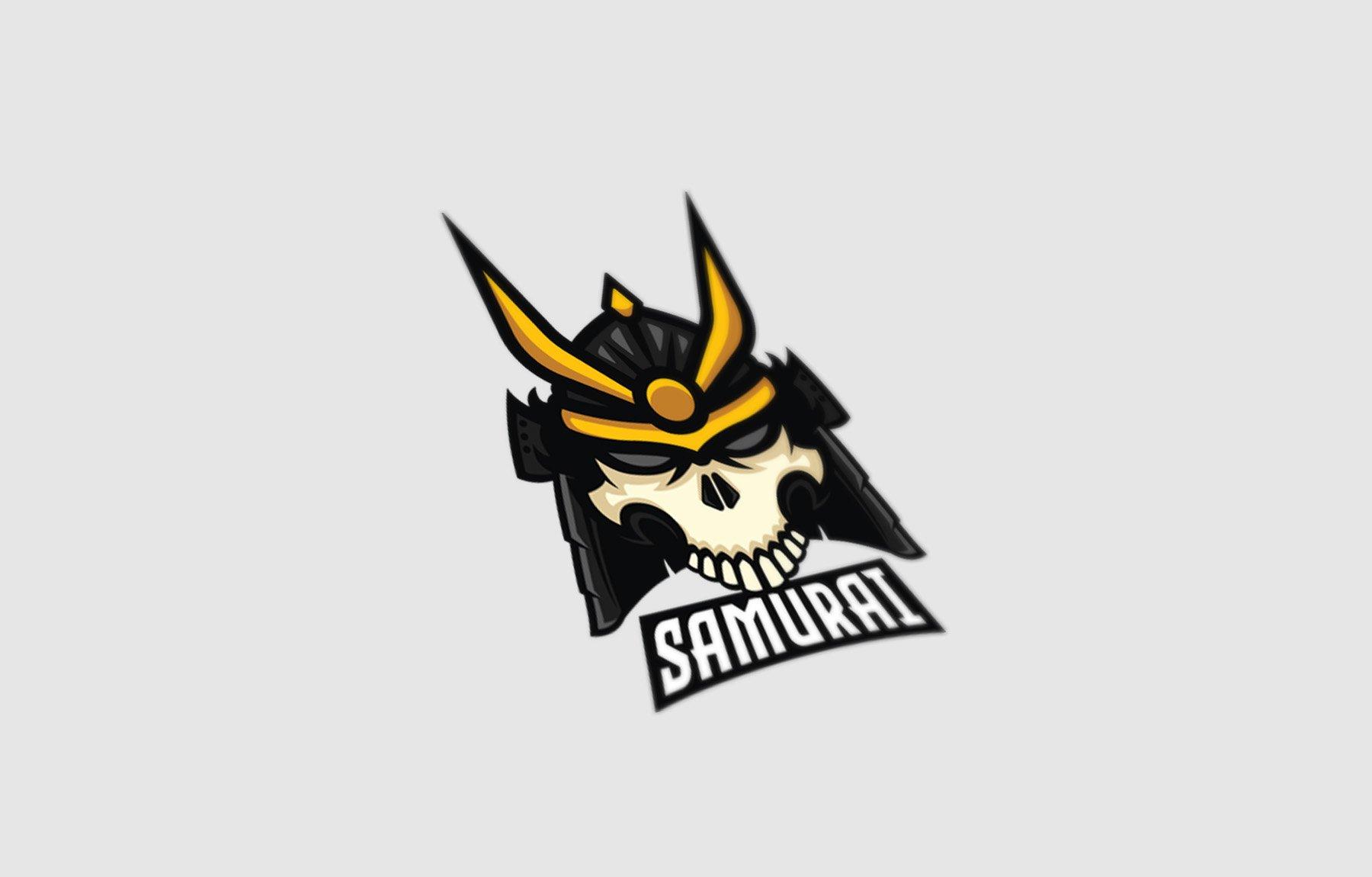 Samurai Skull Logo Template example image 2