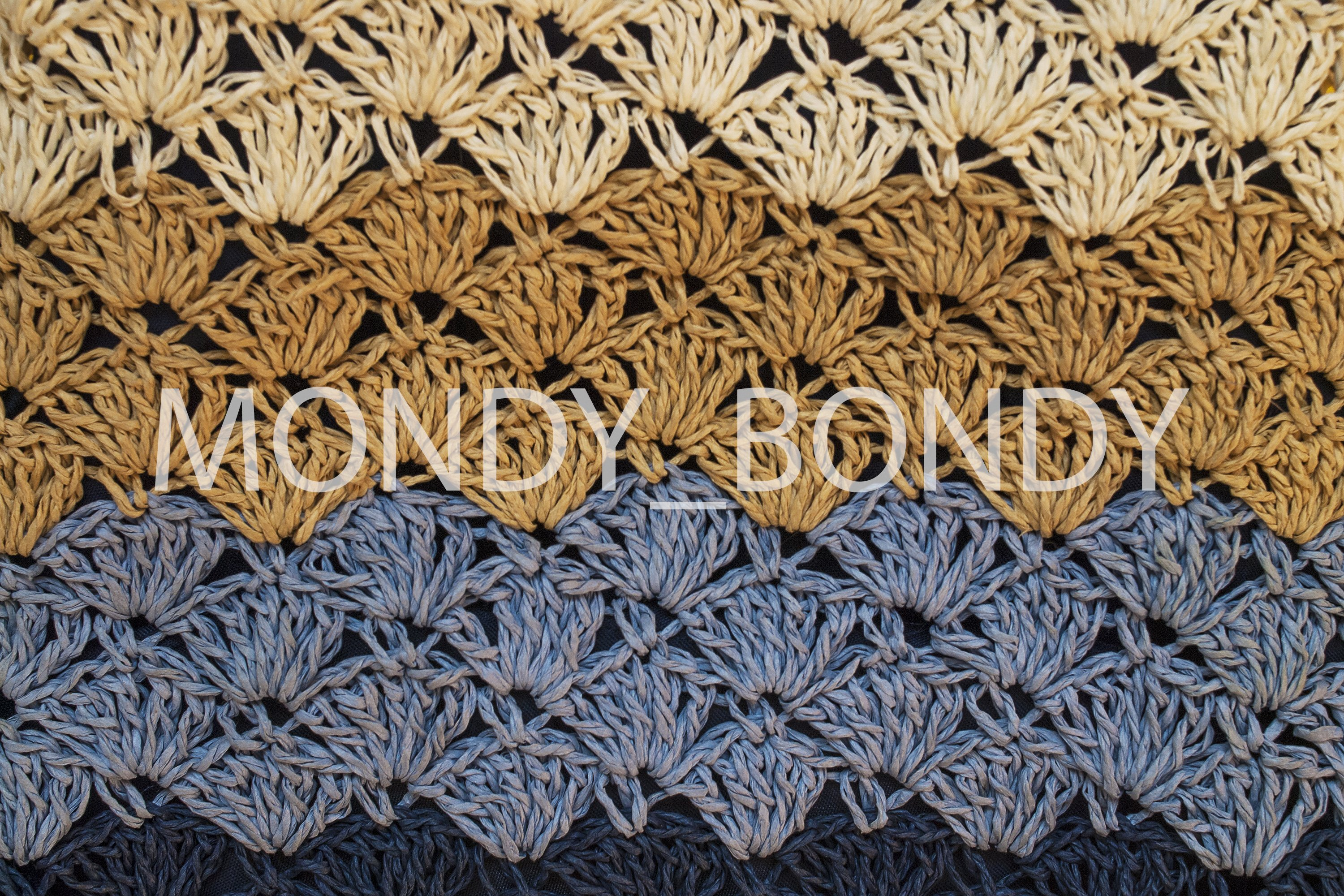 texture of coarse knitting pattern. Color transition blue cy example image 1