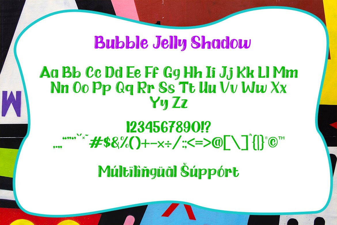 Bubble Jelly | 2 Styles Display Font example image 10