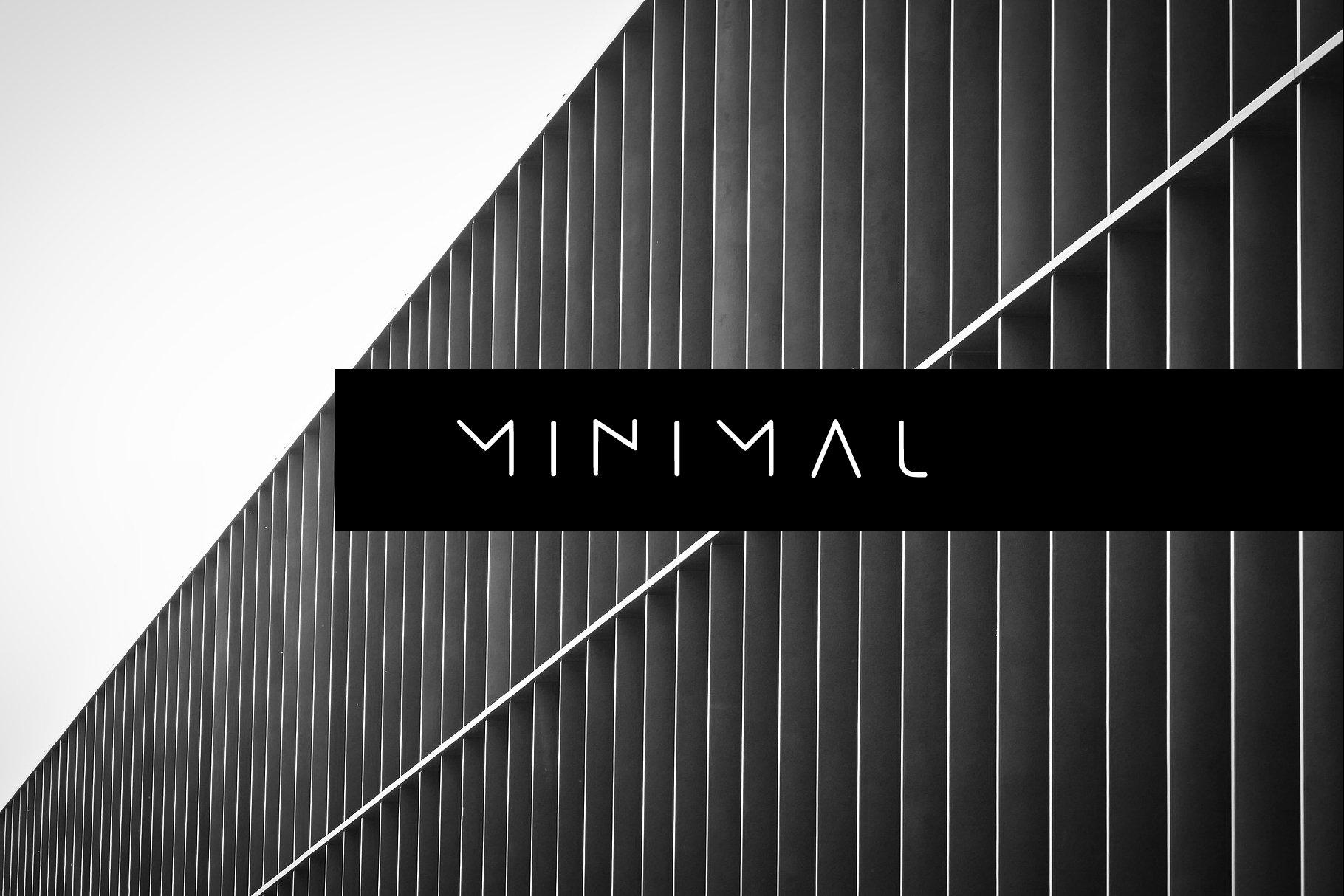 MINIMAL - modern futuristic font example image 1