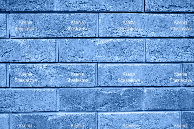 pattern of tinted blue stone wall surface as a background example image 1
