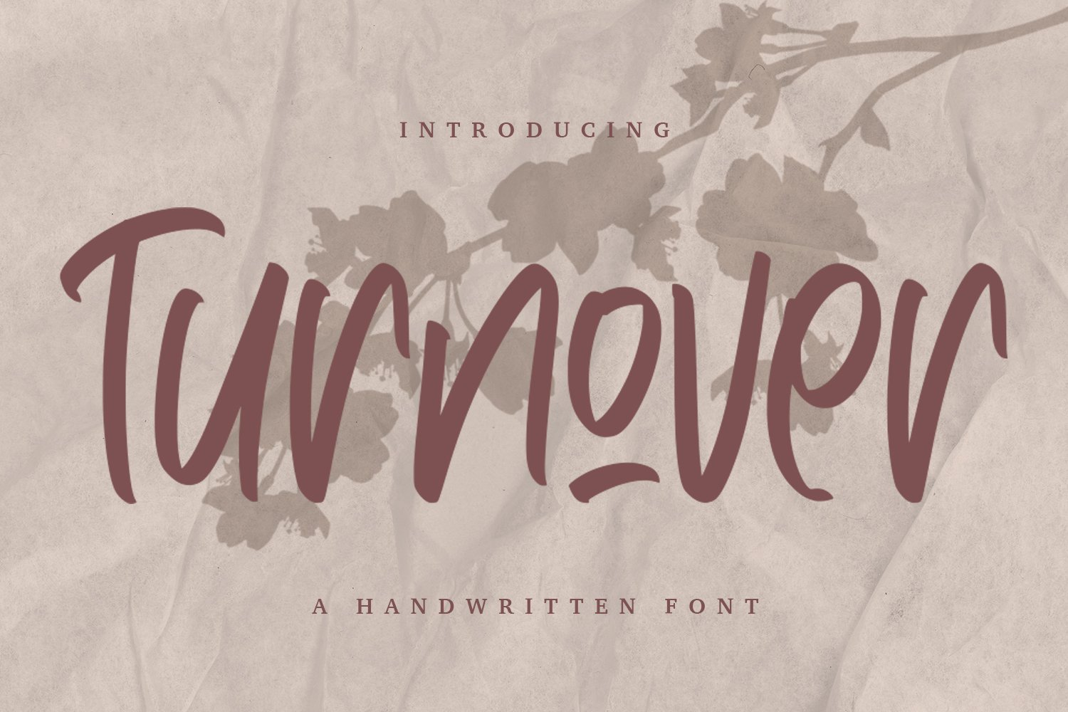Turnover - Handwritten Font example image 1