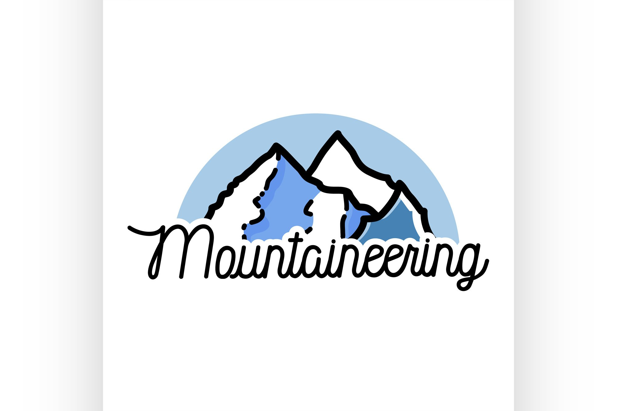Color vintage mountaineering emblem example image 1