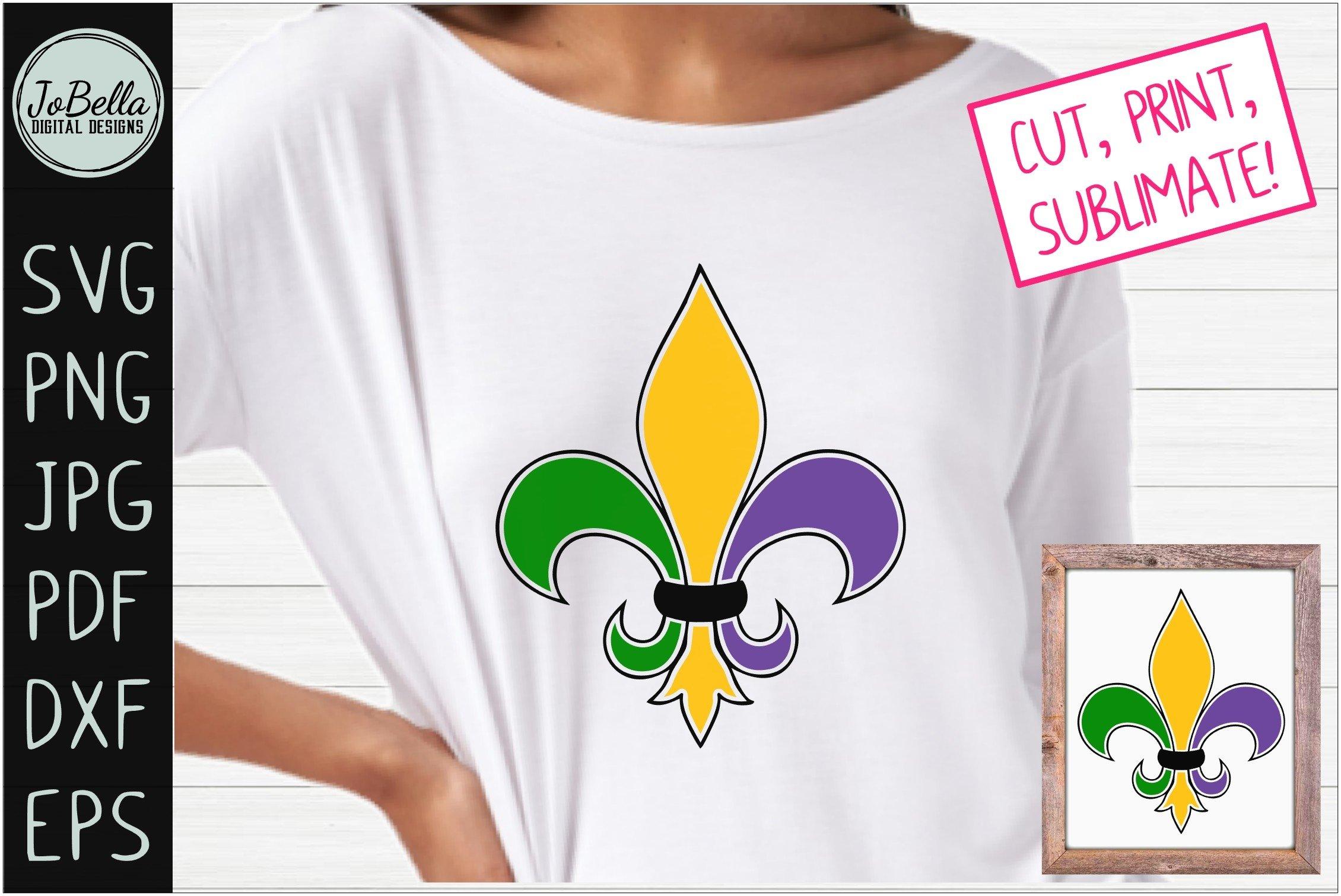 Mardi Gras Fleur De Lis Svg Sublimation Png Printable 424766 Cut Files Design Bundles