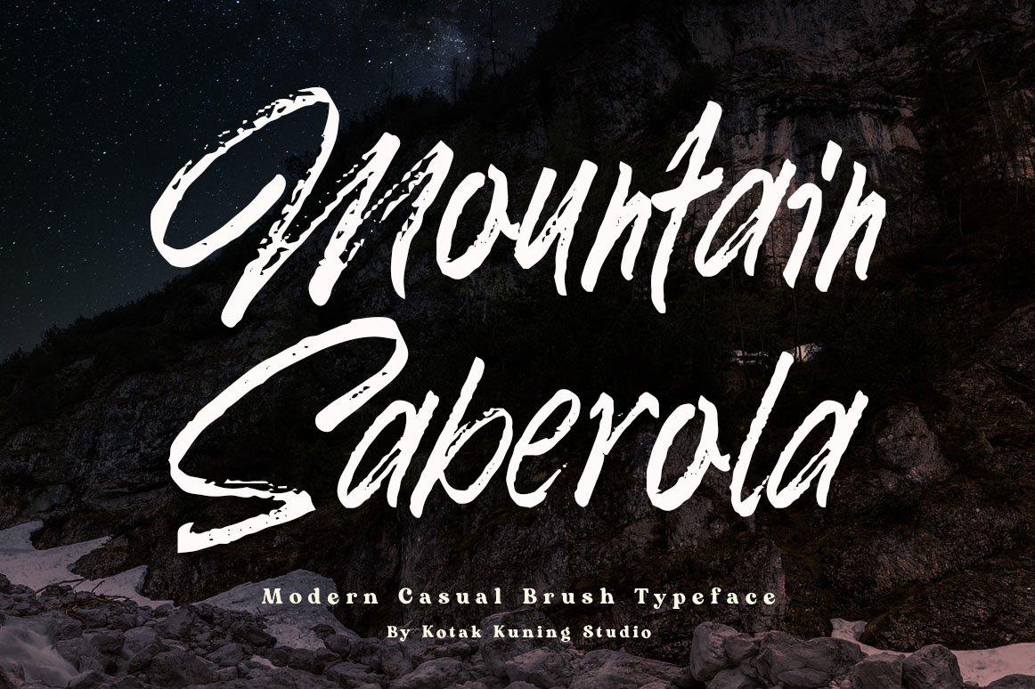 Mountain Saberola - Display Brush Font example image 1