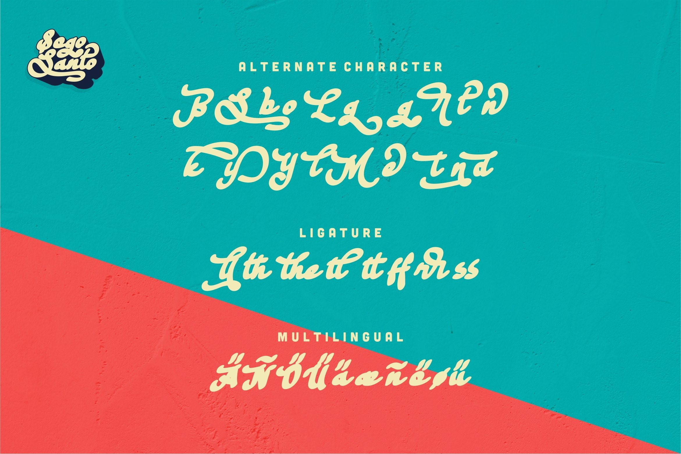 Sogo Santo - Bold & Smooth Retro Font example image 5