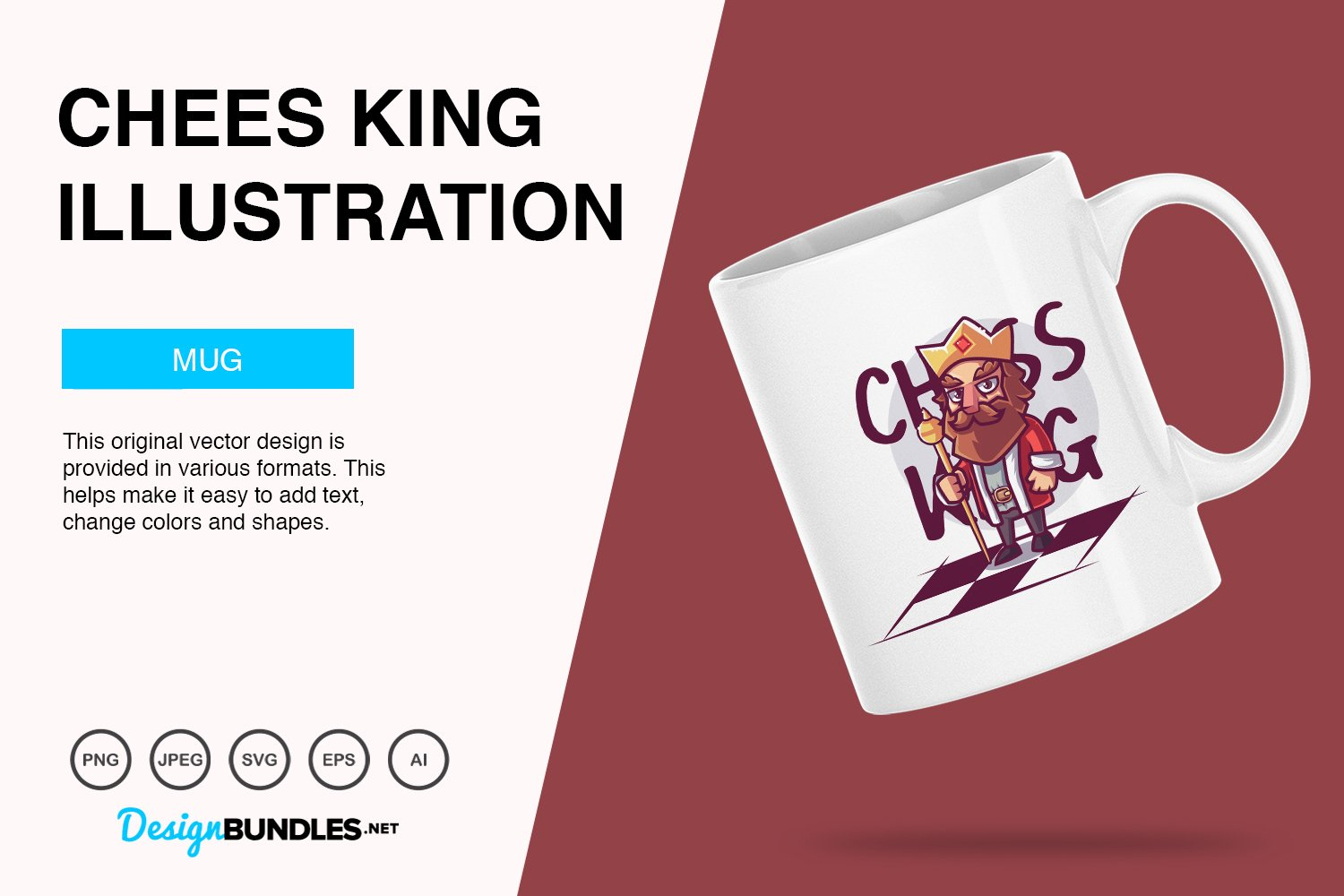 Chess King Vector Illustration example image 3