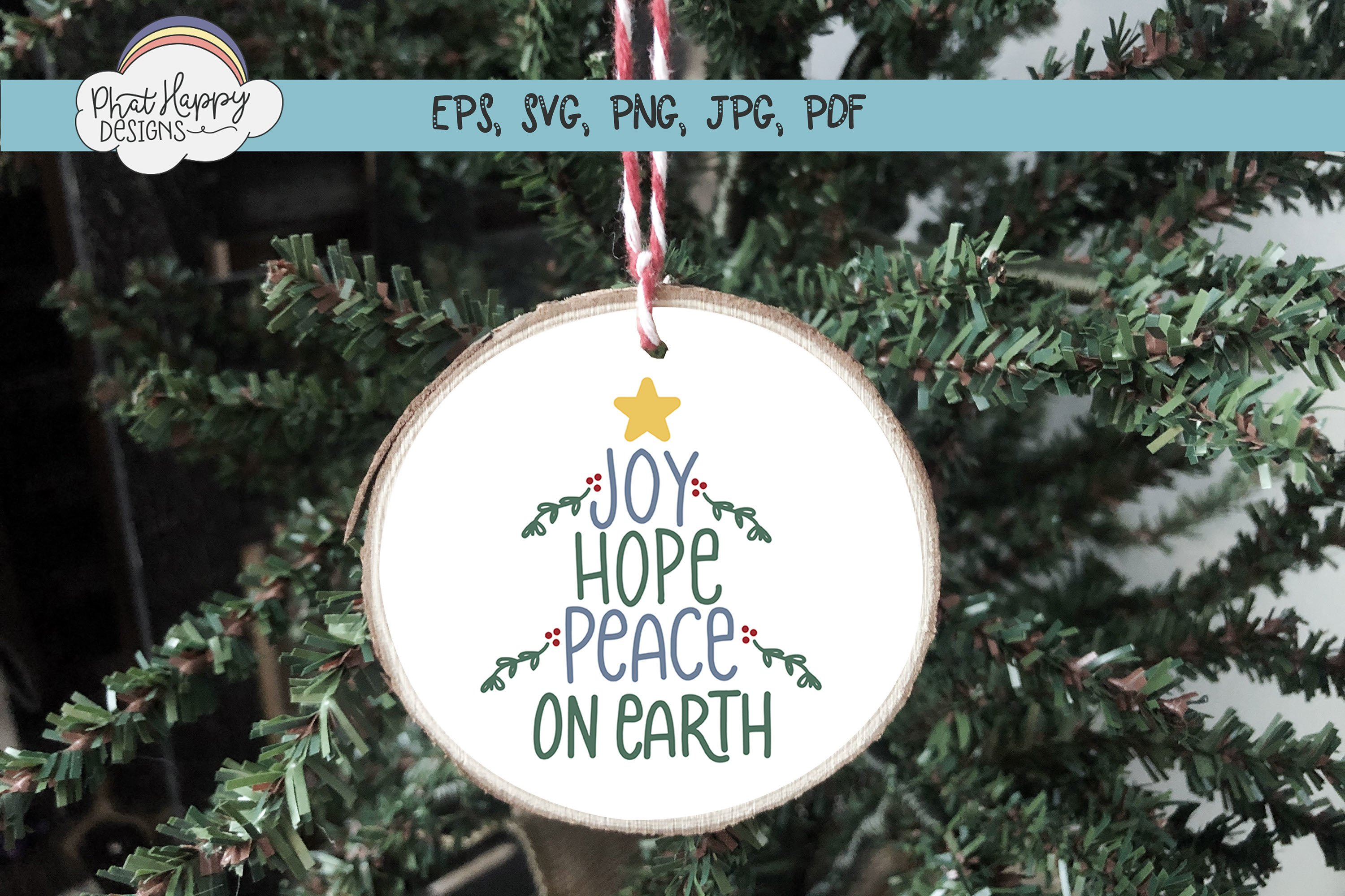 Peace on Earth - Hand Lettered Christmas SVG example image 4