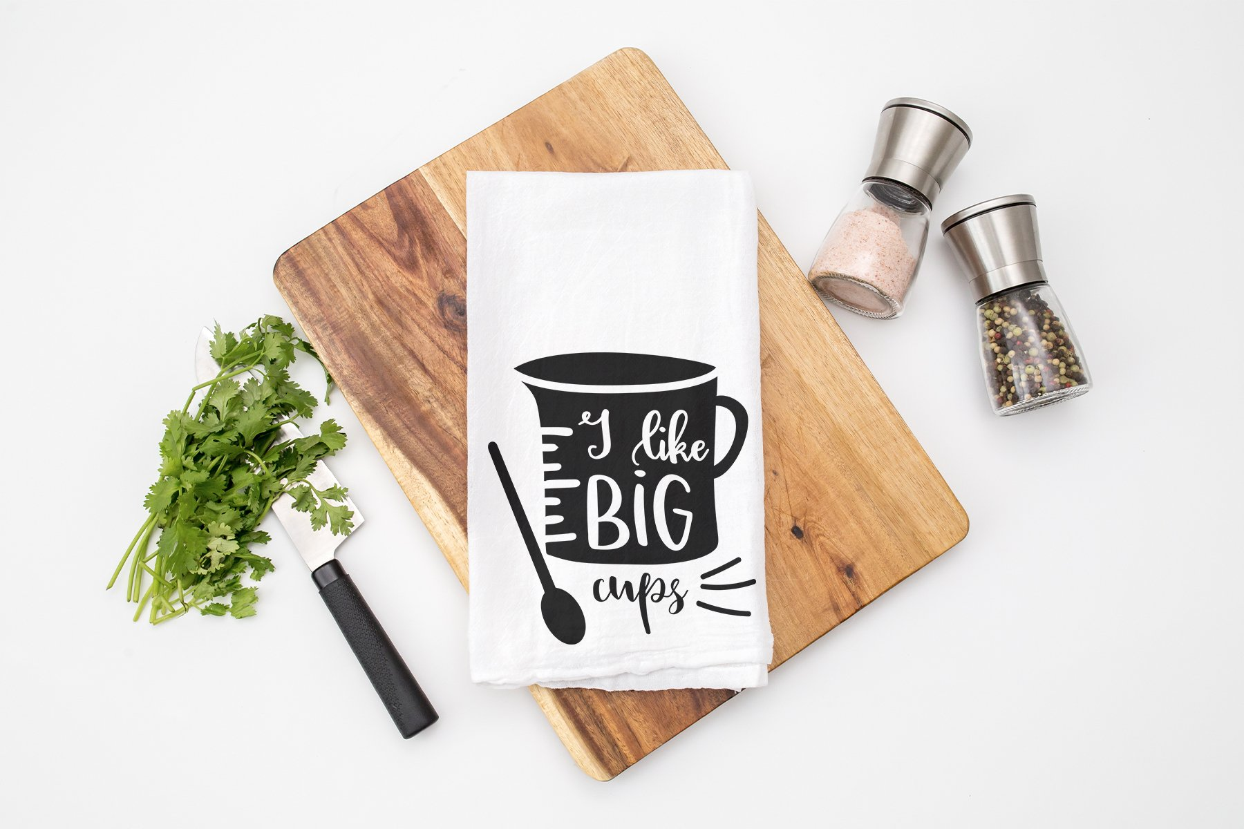 Funny Kitchen Sign SVG | I Like Big Cups SVG example image 2