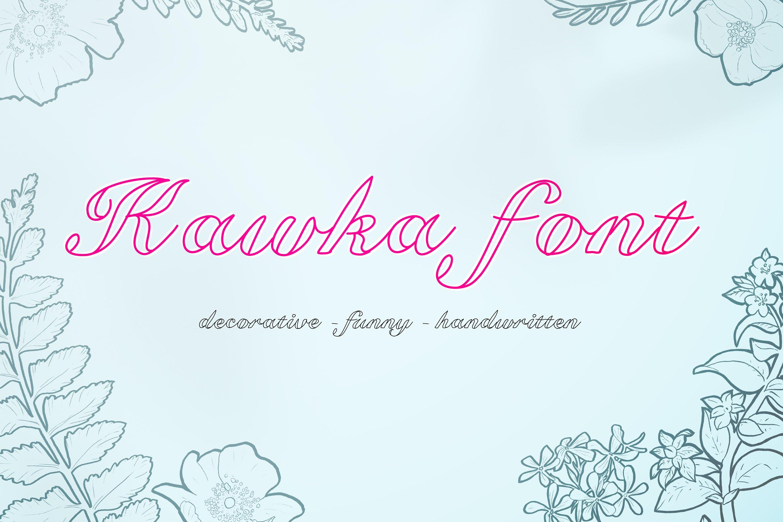 Kawka font example image 1