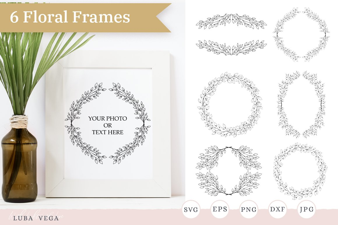Hand drawn wreath Wreaths and Frames