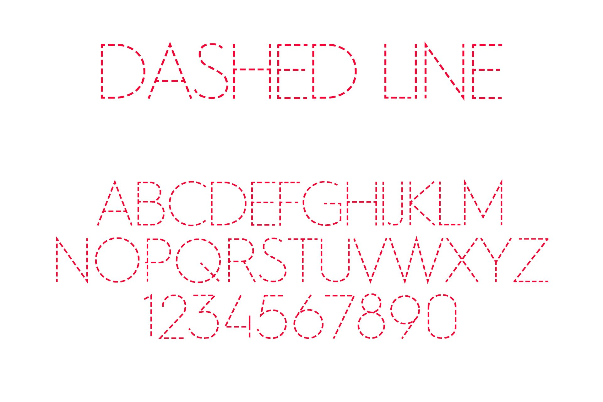 Dashed Line Font example image 1