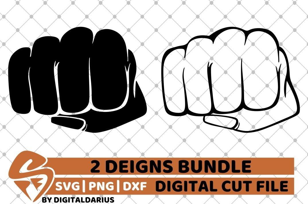 2x Fist Punch Designs Bundle Svg Power Svg Black Man Svg 651861 Cut Files Design Bundles