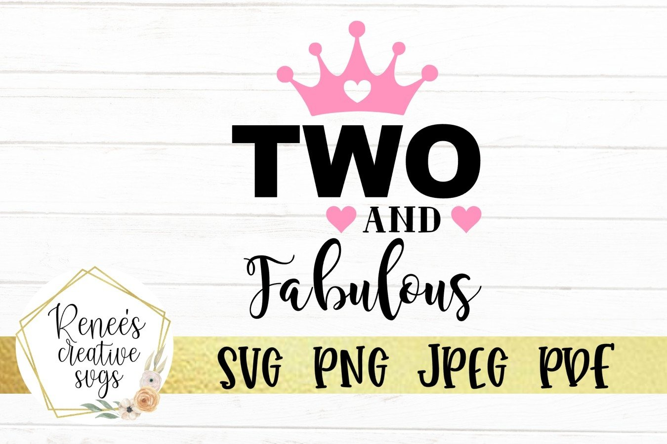 Two And Fabulous | Birthday | SVG Cutting File example image 3