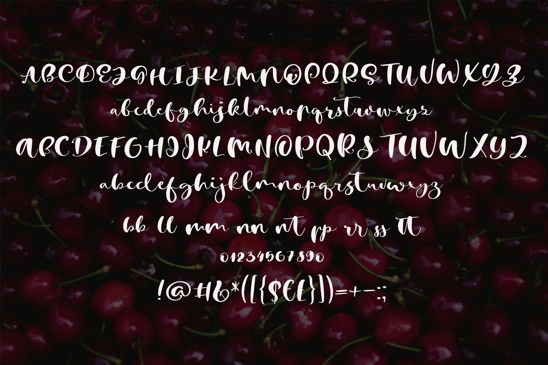 Cherry Heart Script Font example image 3