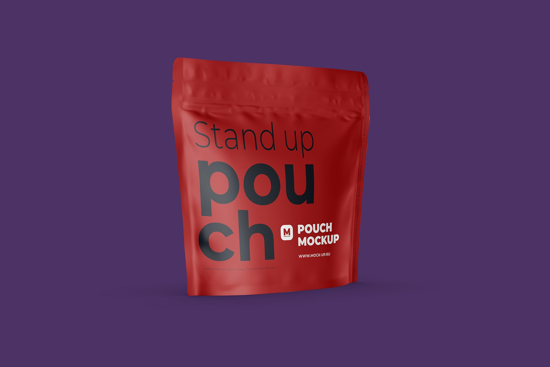 Zip Stand-up Pouch Mockup square example image 7