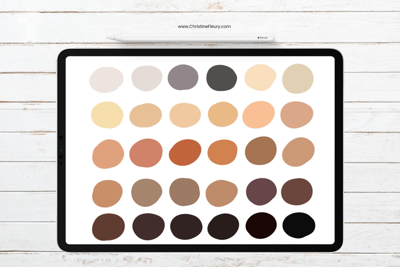 Procreate Color Palette - Hair color example image 2