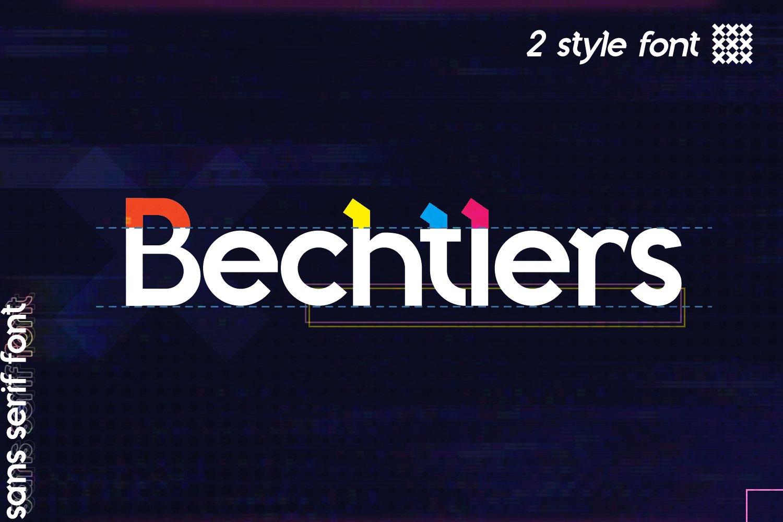 Bechtlers Sans Serif example image 1