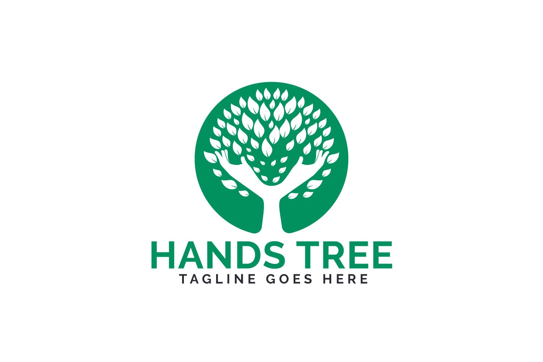 Hands Tree Logo Design. example image 1