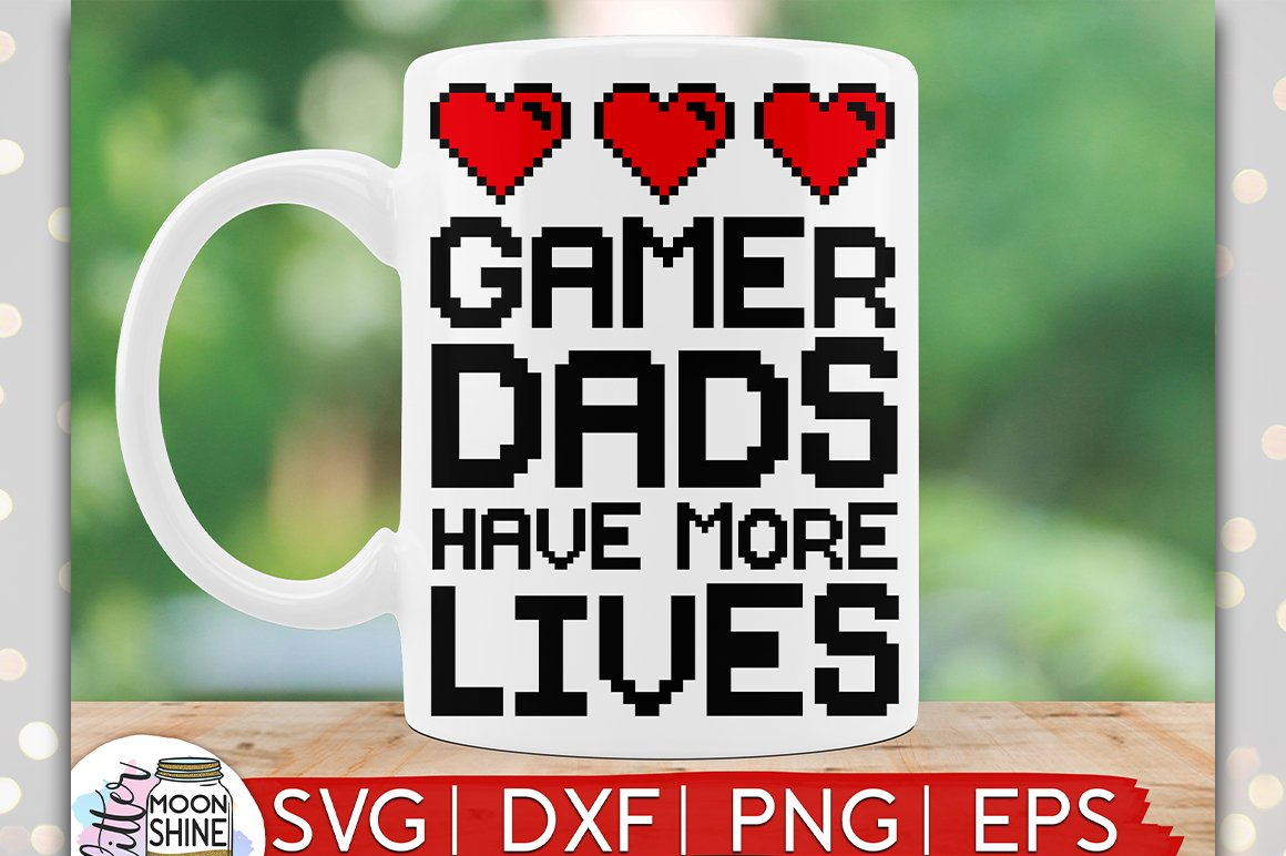 Gamer Dad SVG DXF PNG EPS Cutting Files example image 1