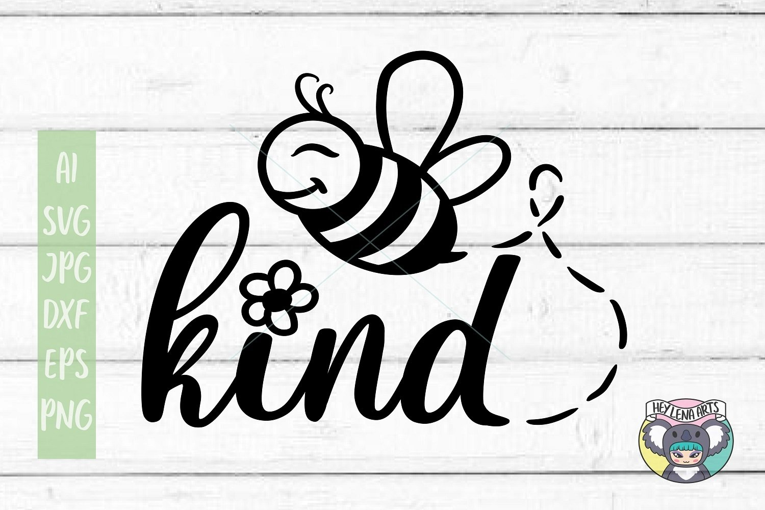 Bee svg, Bee Kind svg, Files for Cricut, dxf, Cut File, png example image 1