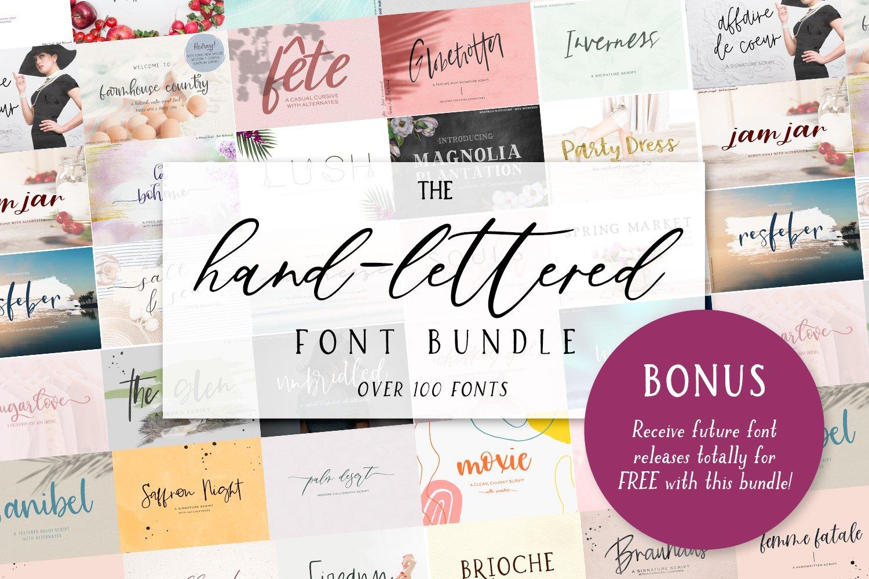 The Handlettered Font Bundle example image 1