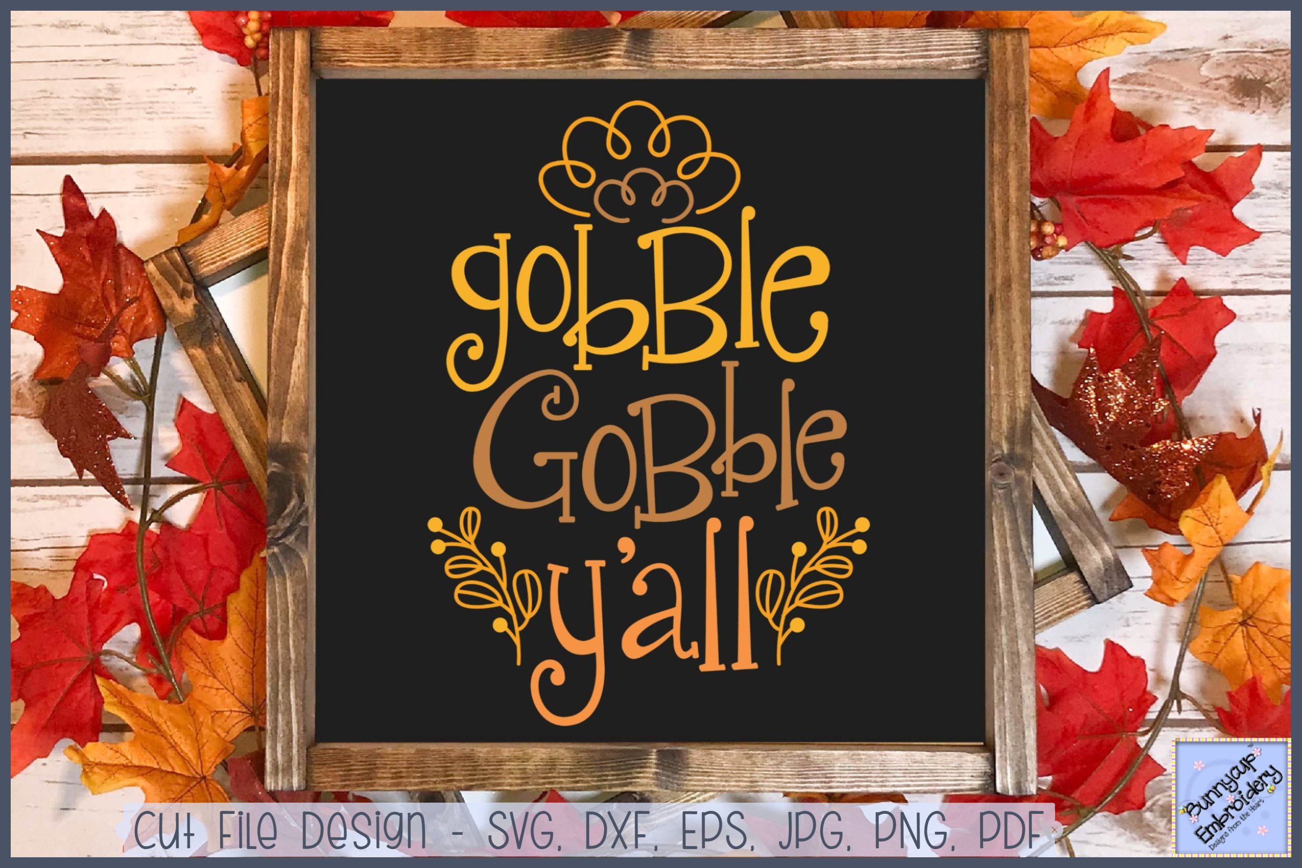Gobble Gobble Y All Svg Clipart Printable 363382 Cut Files Design Bundles