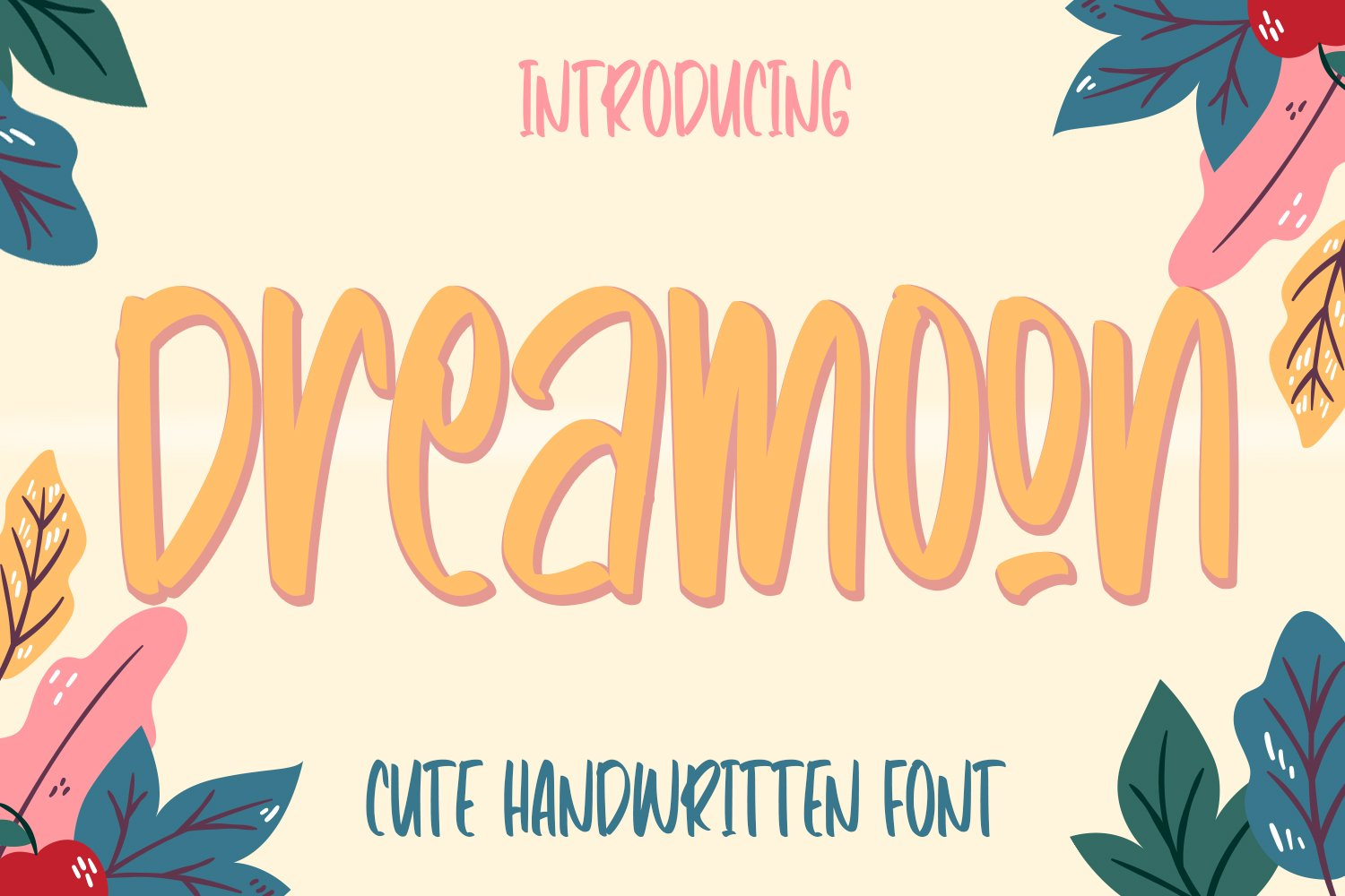 Dreamoon - Cute Fancy Fonts example image 1