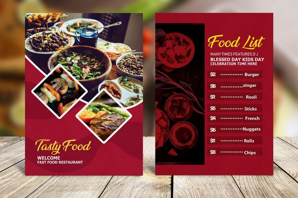 Food Menu Template Psd example image 3