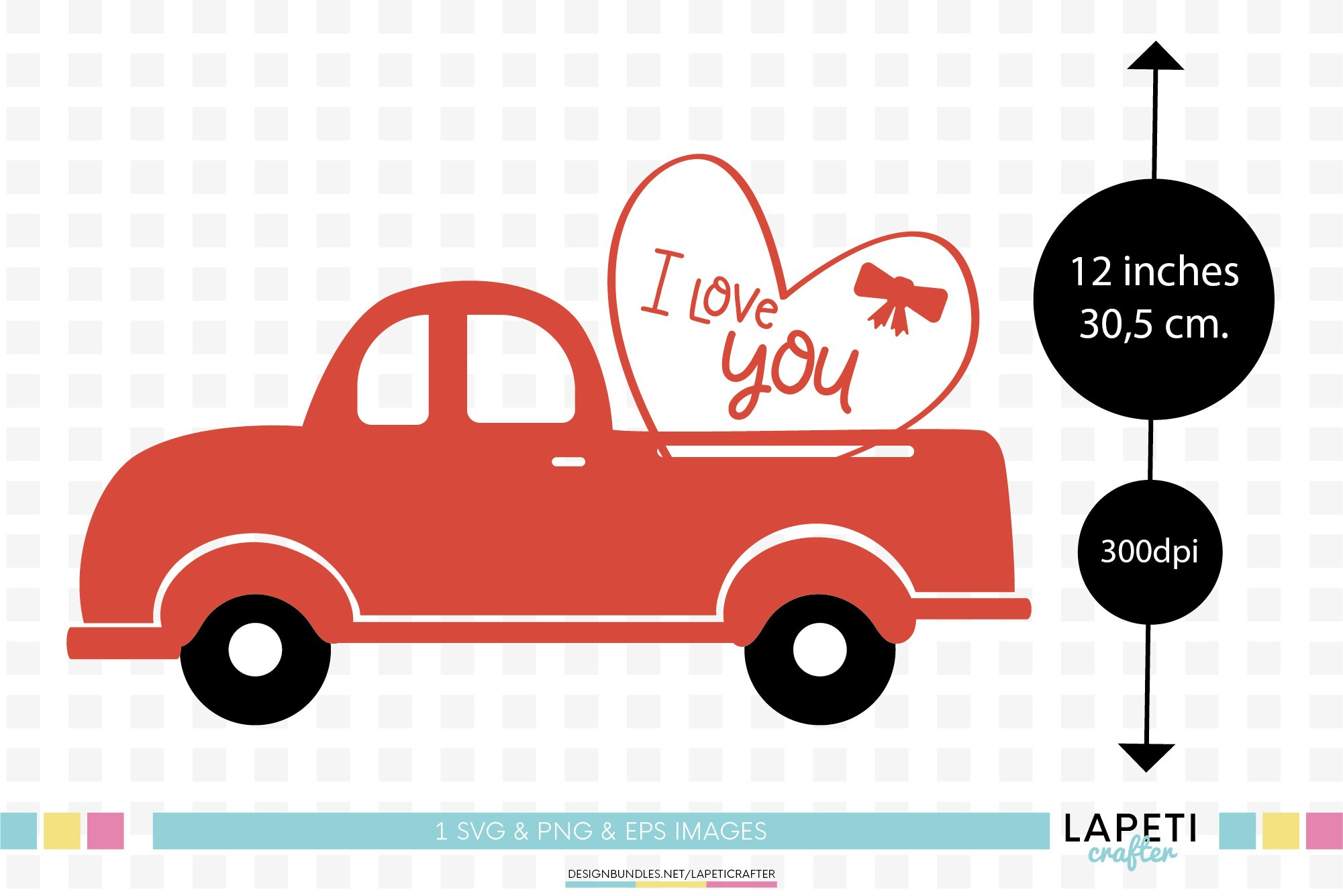 Valentines Day Red Truck Svg Png Valentine Clip Art 353252 Illustrations Design Bundles