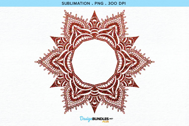 Round Monogram   Sublimation example image 2