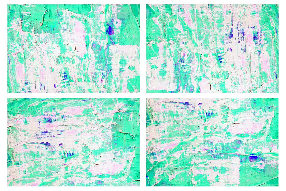 Set of 24 images. Abstract art background. Acrylic painting example image 4