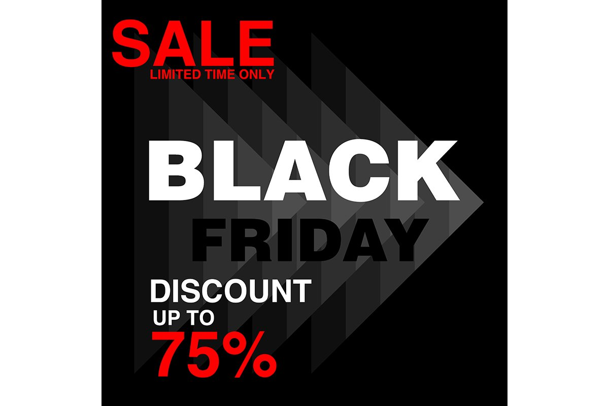 Black Friday Banner Sale And Discount Background For Poster 731263 Logos Design Bundles