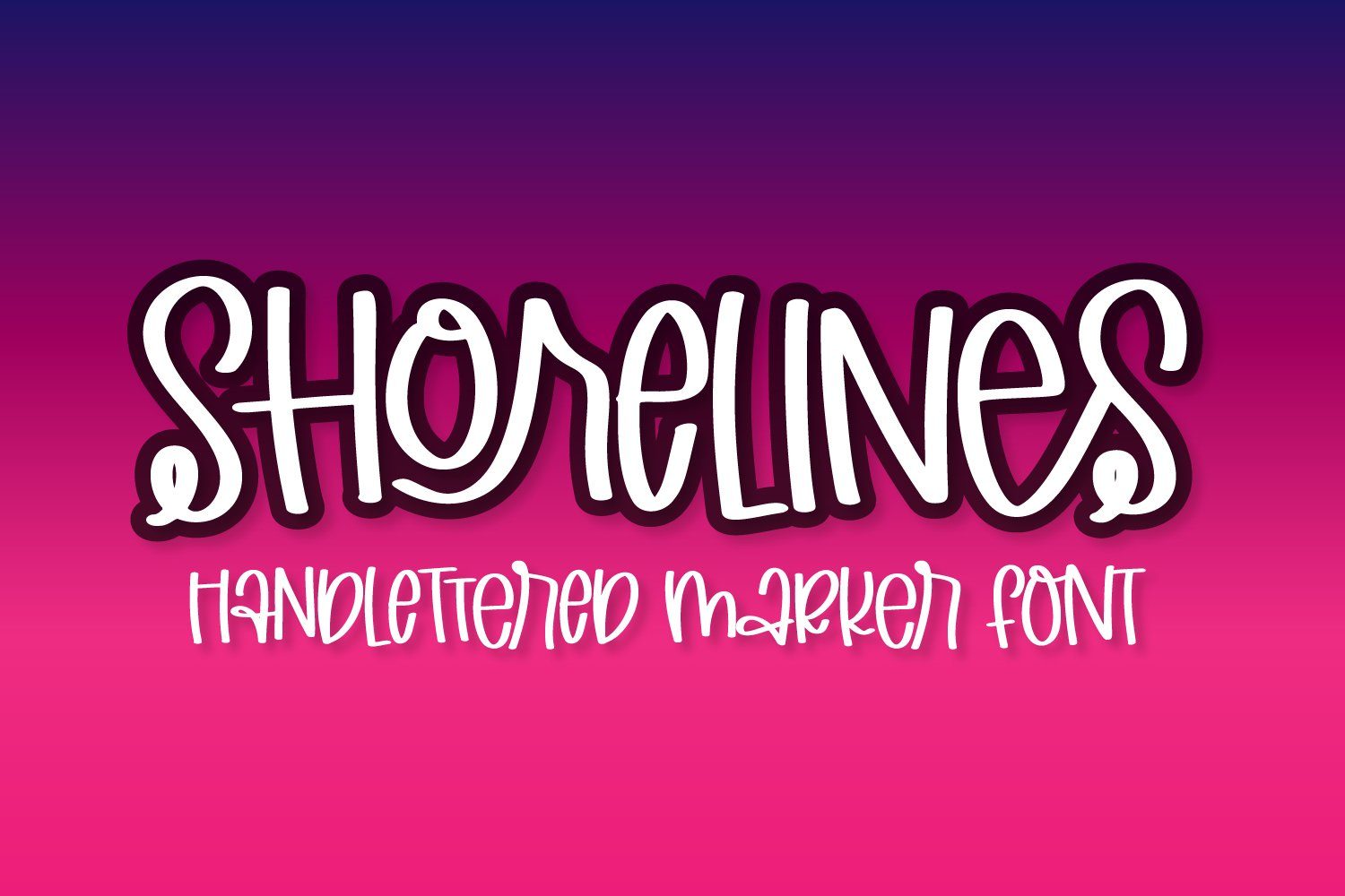 Shorelines - A Quirky Hand Writing Font example image 1
