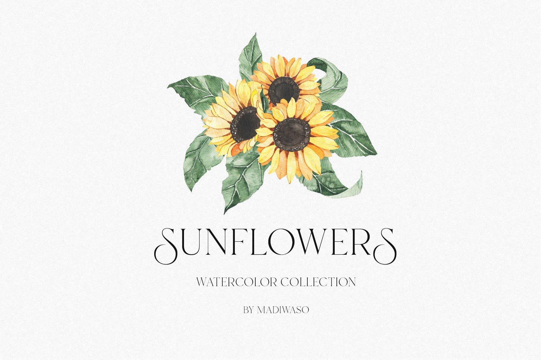 Watercolor Sunflowers collection example image 3