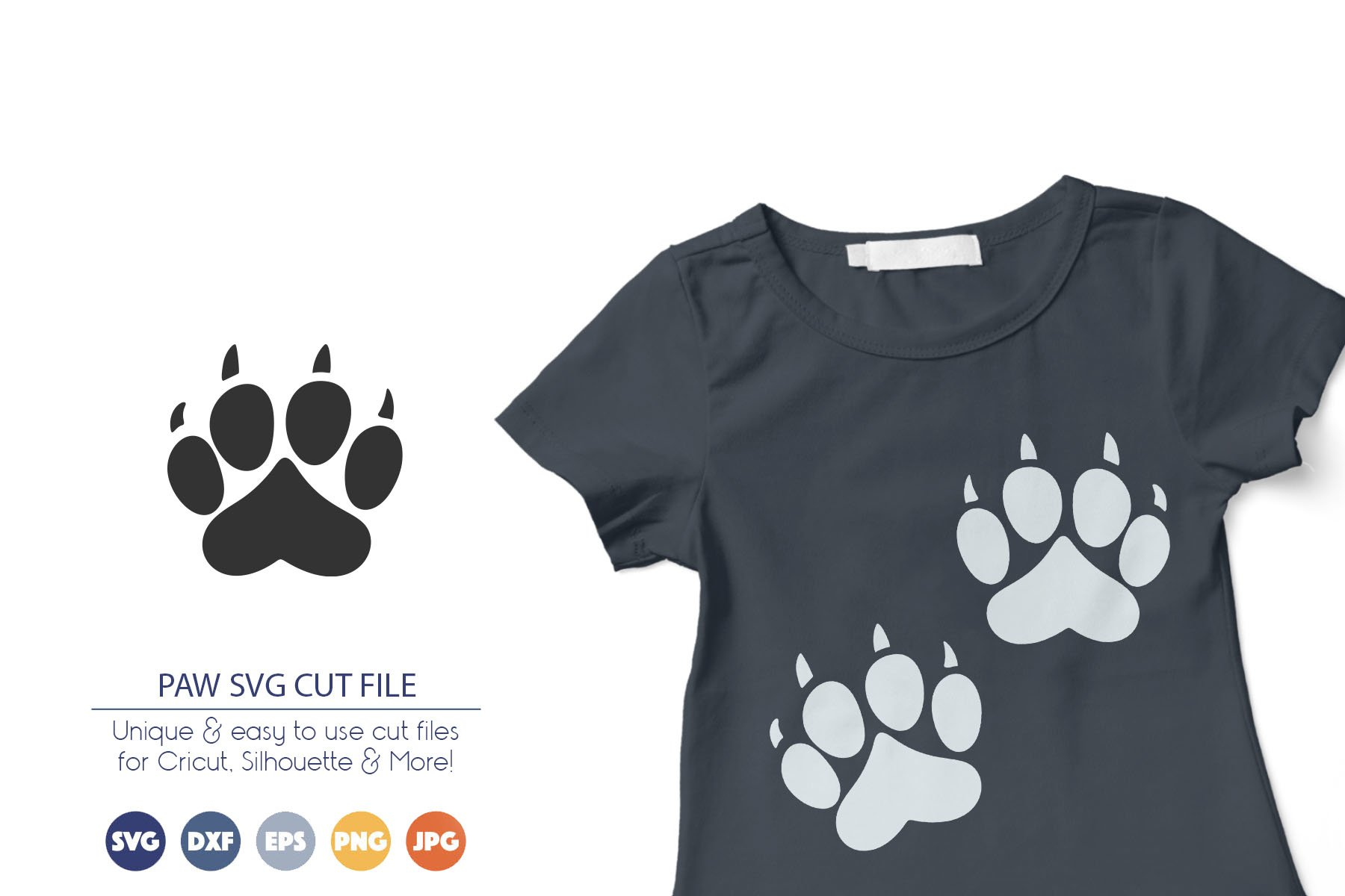 Pet Paw SVG Files - Dogs example image 1
