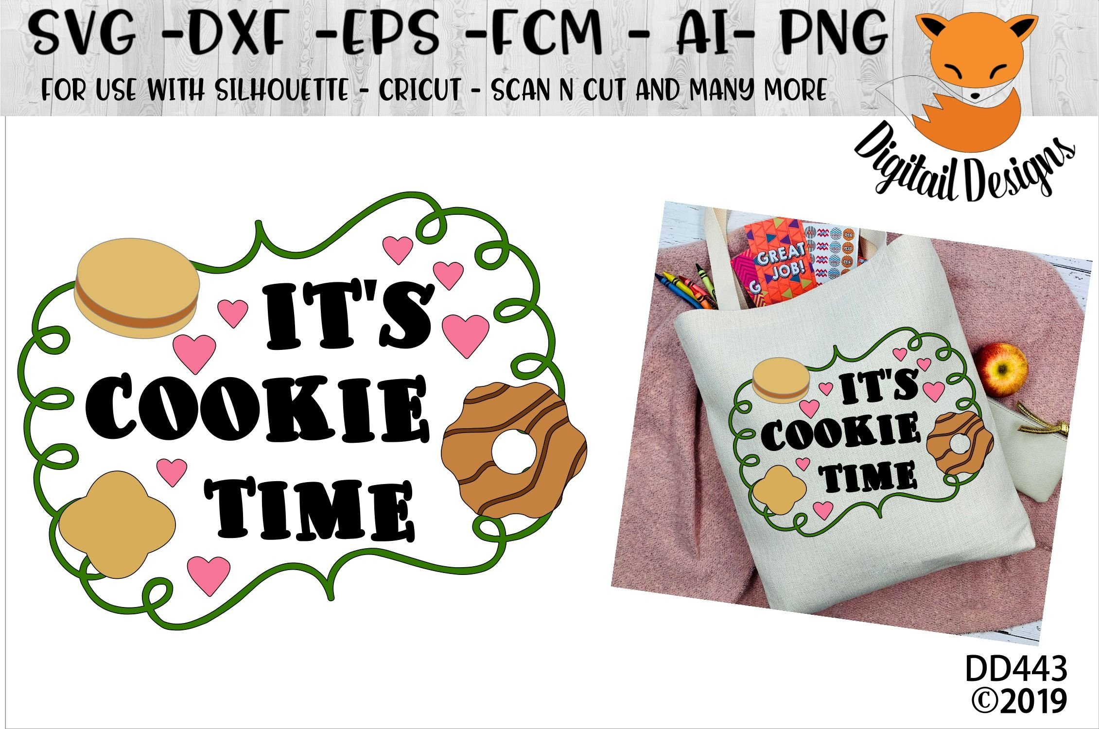 It S Cookie Time Cookiesales Svg 93067 Cut Files Design Bundles
