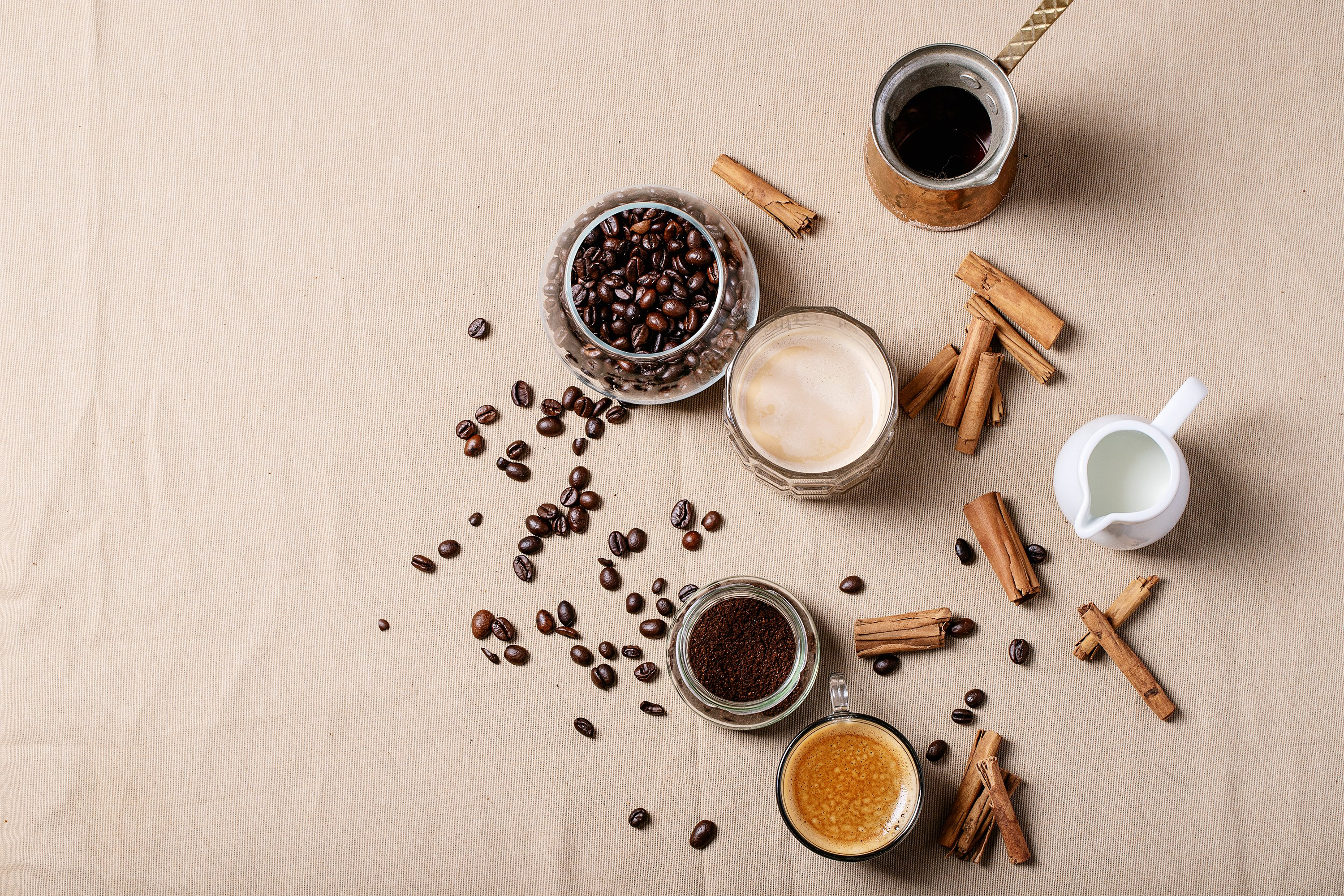 Fresh coffee with cinnamon example image 1
