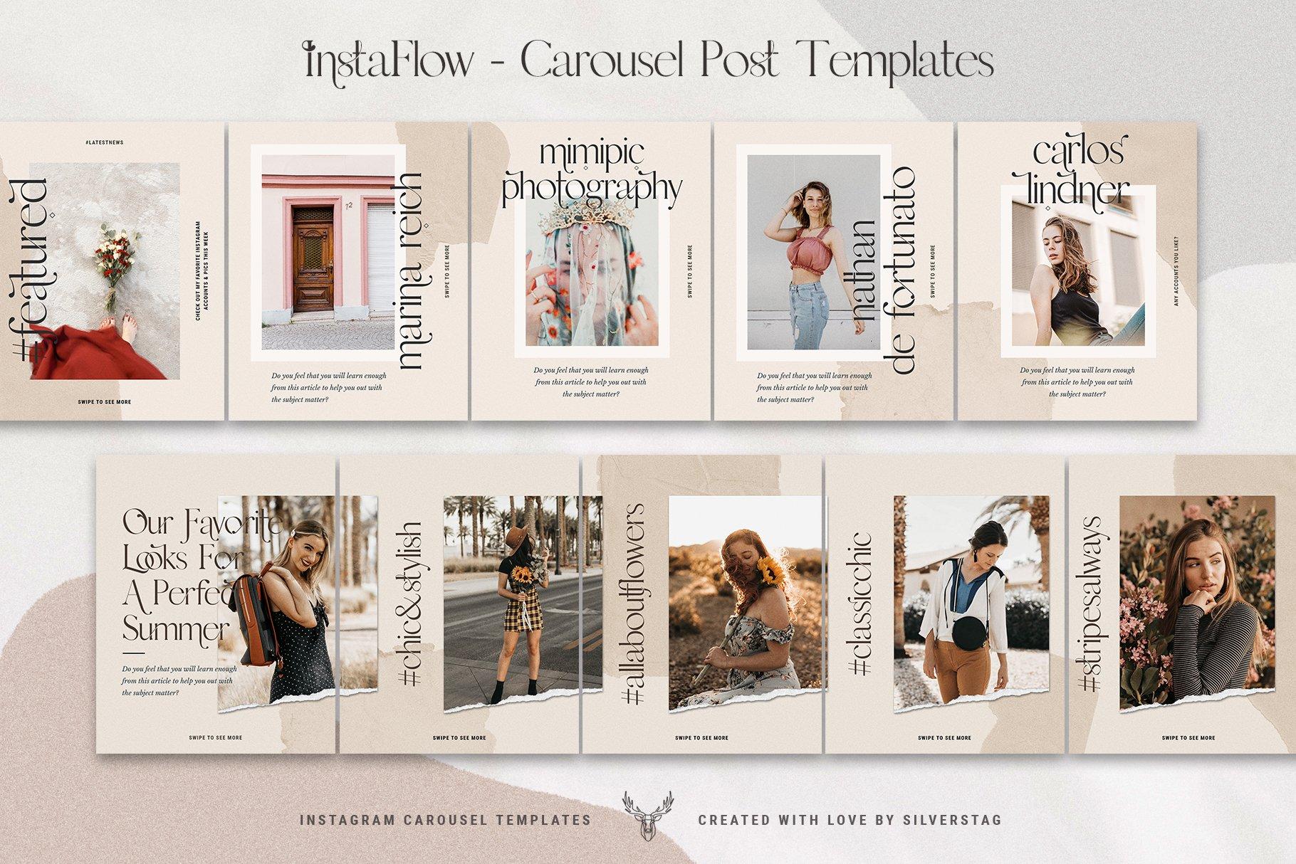 #InstaFlow Carousel Posts & Stories example image 9