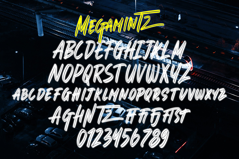 Megamintz - Inline Brush Font example image 6