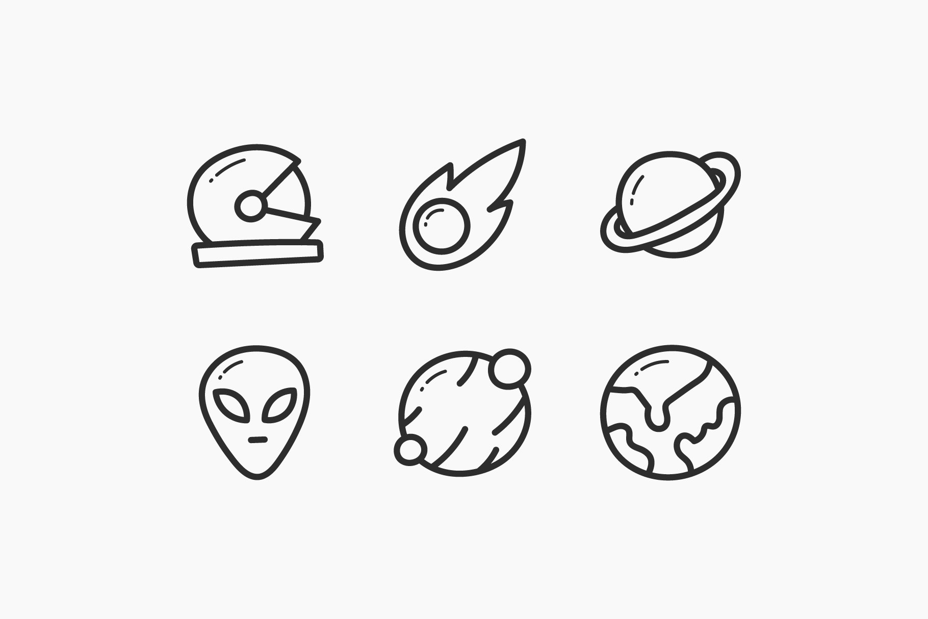 Space Hand-Drawn Doodle Icons example image 2